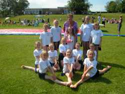 Buckley girls at Ysgol y Waun, Gwernaffield, near Mold, where they did a show as part of a fete to mark the school's 40th anniversary