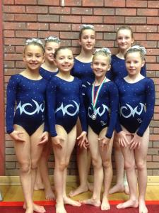 Girls in intermediate competition
