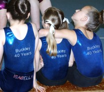 Girls in their 40th anniversary leotards