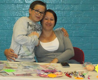 Julie on the craft stall