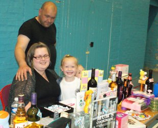 Amy staffed the tombola stand