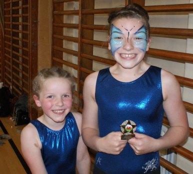 Chin-up challenge winners: Lottie and Bella