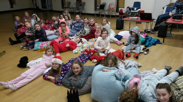 Girls at film night