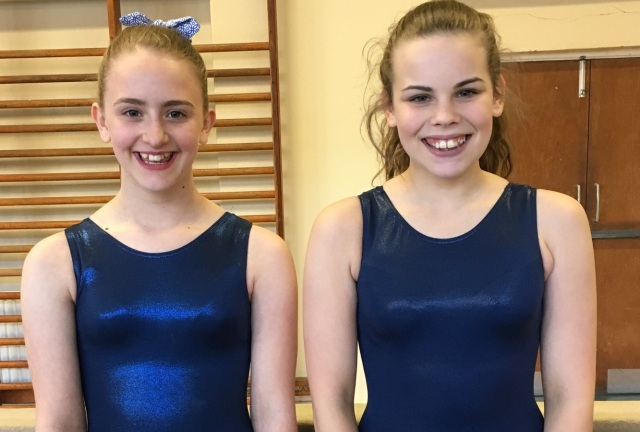 Niamh Carr, 12, and Morgan Davies, 14