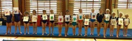 Girls at gym camp