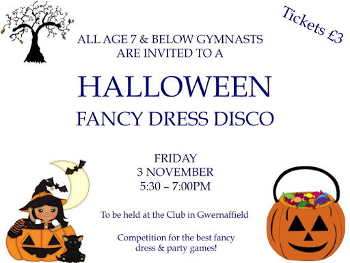 Seven and under Halloween fancy dress disco Friday 3 November from 5.30pm