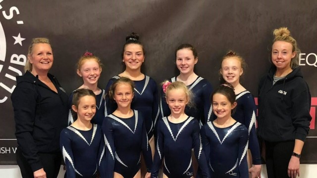 Gymnasts and coaches